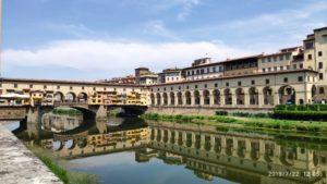 view Ponte Vecchio bridge Florence